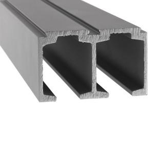 Laufschiene 2-flügelige Tür | Länge bis 5 m | Aluminium eloxiert
