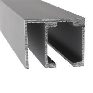 Laufschiene 1-flügelige Tür und Festteil |  bis 4 m | Aluminium eloxiert