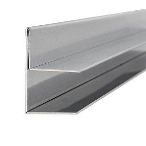 Dachrinne für Vordach | Glasstärke 12,76 mm | Edelstahl