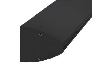 Wandklemmprofil 0° 17,52 mm, oval - Schwarz