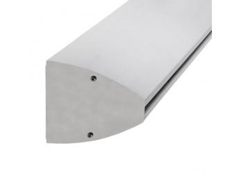 Wandklemmprofil 0° 21,52 mm, oval - Edelstahloptik