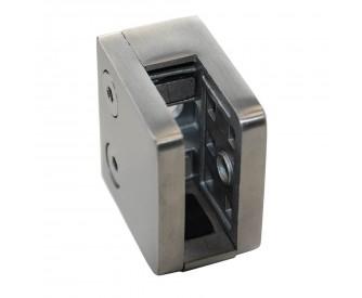Glashalter, eckig - gerader Abschluss mit Sicherungsplatte 13,52 und 17,52 mm Glas