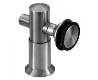 Glas-Wand-Verbinder 10-12 mm flächenbündig, rund, 90° - Edelstahl