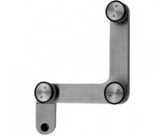 Glas Verbinder 3 Punkt mit Anschlag-flach 10-12 mm - Edelstahl