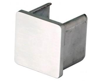 Endkappe Rechts/Links für Handlauf, hohlwandig eckig - Edelstahl