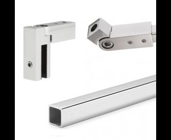 Stabilisations-Set eckig | 1.500 mm | poliert