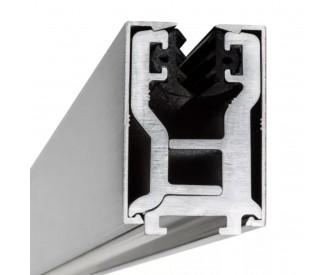 Glas-Klemmprofil 8 - 8,76 mm - Edelstahloptik