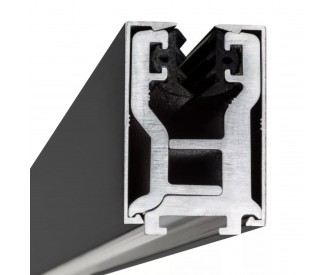 Glas-Klemmprofil 8 - 8,76 mm - Anthrazit