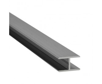 H-Profil Aluminium 10 mm - Edelstahloptik