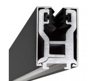 Glas-Klemmprofil 12 - 12,76 mm - Anthrazit