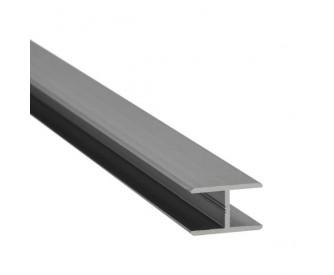 H-Profil Aluminium 21,52 mm - Edelstahloptik