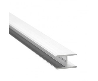 H-Profil Aluminium 13,52 mm - Weiss