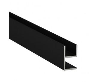 E-Profil-Alu 8 mm - Schwarz