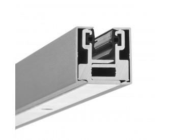 Glas-Klemmprofil MINI 8 - 8,76  mm - Edelstahloptik