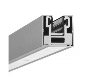 Glas-Klemmprofil MINI 10 - 10,76  mm - Edelstahloptik