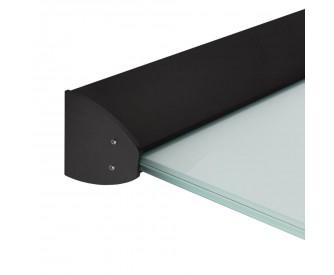 Wandklemmprofil 5° Dachneigung 17,52 mm, oval - Schwarz
