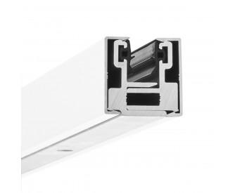 Glas-Klemmprofil MINI 10 - 10,76  mm - Weiss