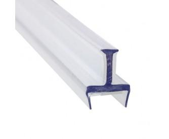 Glas Verbindungsprofil 3 Wege PET 10 mm - 3 m - Klar