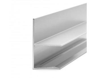Regenrinne für Vordach 13,52, 17,52 und 21,52 mm - Edelstahloptik