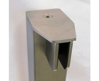 End-Pfosten System A 60x60 mm zum Aufschrauben