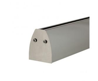 Klemmprofil oval für Glasstärke 12,76 mm