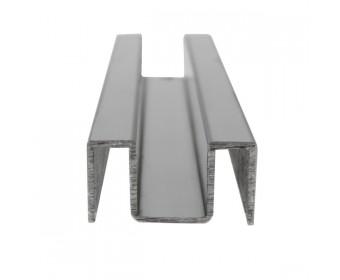 U-Profil - Innenmaß 8 mm - 2,5 m lang - Matt gebürstet