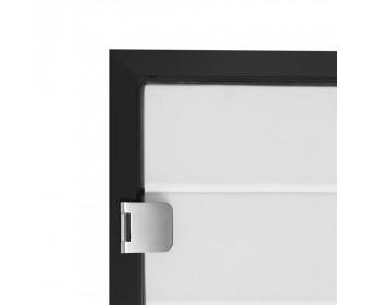 Glas Türzarge 8- 10 mm - Schwarz