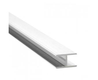H-Profil Aluminium 21,52 mm - Weiss