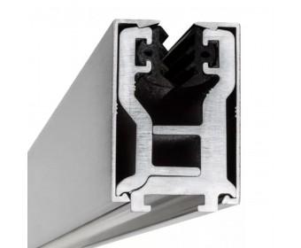 Glas-Klemmprofil  12 - 12,76 mm - Edelstahloptik gebürstet