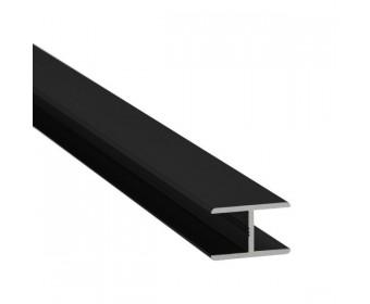 H-Profil Aluminium 17,52 mm - Schwarz