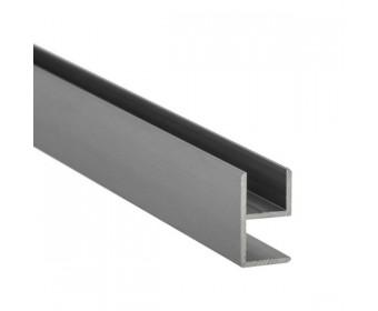 E-Profil-Alu 10 mm - Edelstahloptik