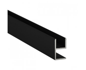 E-Profil-Alu 10 mm - Schwarz