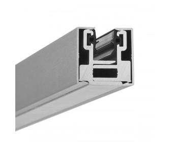 Endstück Glasklemmprofil MINI 10 - 10,76 mm - Edelstahloptik