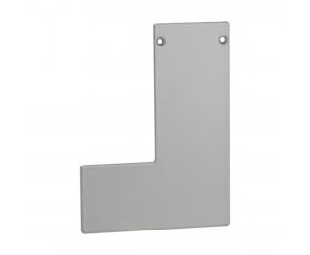 Endkappe links für Aufgesetztes Brüstungsprofil mit Flansch - Edelstahloptik