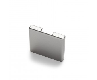 Endkappe für Glas-Klemmprofil MINI 10 - 10,76 mm - Edelstahloptik