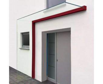 Vordach-Profilsystem 2.400 mm Höhe, Seitenwindschutz rechts - Individuelle Farbe