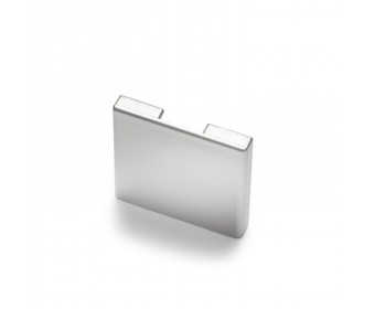 Endkappe für Glas-Klemmprofil MINI 10 - 10,76 mm - Hochglanz