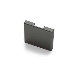 Endkappe für Glas-Klemmprofil MINI 8 - 8,76 mm - Anthrazit