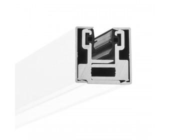 Endstück Glasklemmprofil MINI 10 - 10,76 mm - Weiss