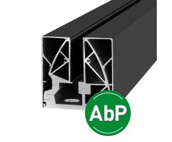 Klemmprofil 17,52 mm, eckiges Design - Anthrazit