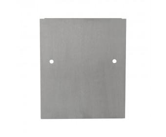 Endkappe 0° Wandklemmprofil 21,52 mm, eckig - Edelstahloptik