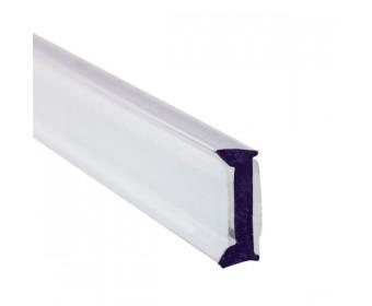 Glas Anlageprofil PET 12 mm - 3 m - Klar