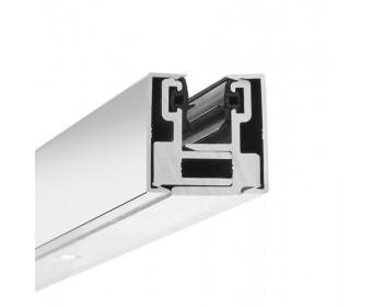 Glas-Klemmprofil MINI 8 - 8,76  mm - Hochglanz