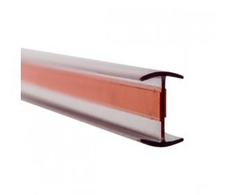 Glas Verbindungsprofil 180° PET 12 mm - 3 m - Klar