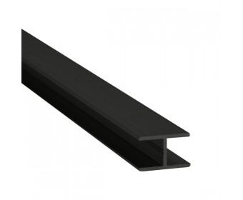 H-Profil Aluminium 10 mm - Schwarz