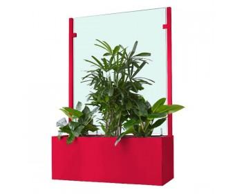 Pflanzkasten mit Wind- und Sichtschutz 1800 mm - Neopor - Individuelle Farbe