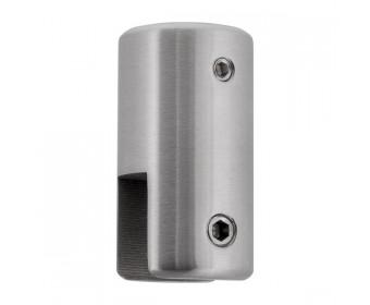 Glasklemme für Rohr 20 mm | Deckenbefestigung | matt gebürstet