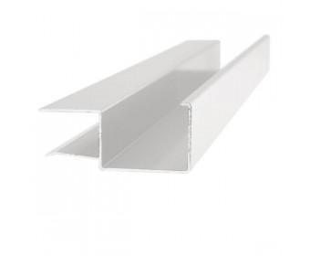 Regenrinne kastenförmig 13,52, 17,52 und 21,52 mm - Weiss