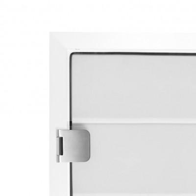 Glas Türzarge 12,76 mm - Weiss