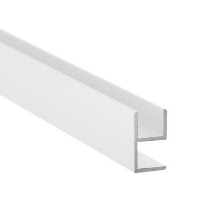 E-Profil-Alu 8 mm - Weiss
